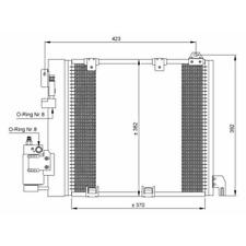 Kondensator Klimaanlage - NRF 35302