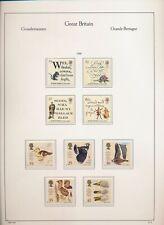 XC39808 Great Britain 1996 R. Burns poems ducks birds lot MNH fv 2,95 £