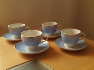 Vintage X4 Royal Doulton Bruce Oldfield 2004 RD Cups & Saucers.