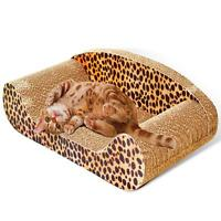Sofa Design Cat Scratching Corrugated Board Toy Scratcher Bed Pad 50cm US