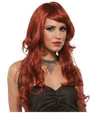 Synthetic Role play Reenactment or Crossdresser Costume Long Auburn Wig