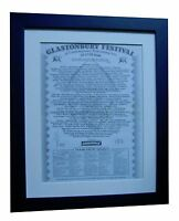 GLASTONBURY FESTIVAL+POSTER+AD+ORIGINAL 1992+TOP QUALITY FRAMED+FAST GLOBAL SHIP