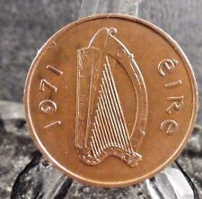 CIRCULATED 1971 2 PENNY IRELAND COIN (011317)1
