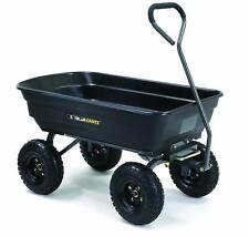 Heavy Duty Gorilla Cart Dump Wagon Wheelbarrow Garden Yard Pneumatic Tires Steel