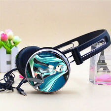 Anime Hatsune Miku Earphone Stereo Bass Headband Headphone MP3 Phone PC Music A