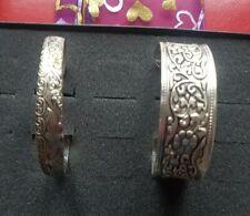 Pack of 2 Bangles Bracelets Tibetan Silver 2 Widths
