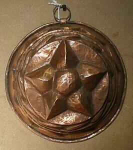 Vintage German 16.5 cm Star Top Copper Jelly Mould (CM39)