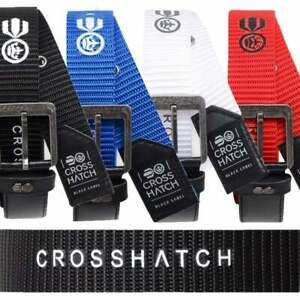 Crosshatch Mens New Belt Crosshatch Chucker Embossed Design PU Leather Look BNWT