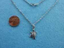 "Cute Swimming Turtle Charm Necklace 18"" Chain Tortoise Birthday Gift # 024"