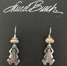 NEW! Laurel Burch FROG Antiqued Silver Retired Earrings