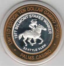 2003 Palms Casino Seattle Slew Horse Belmont Stakes .999 Fine Silver $10 token