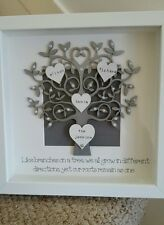 personalised box picture frame family tree mothers day nans gift present