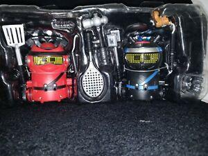 Ninja Bots 2-Pack Halirious Battling Robots Red & Black