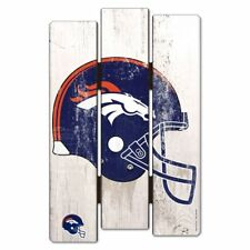 "Denver Broncos Fence Wood Sign 11""X17'' Brand New Wincraft"