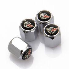 Universal Car Tire Valve Dust Stems Air Caps Covers Logo For Chevrolet Corvette