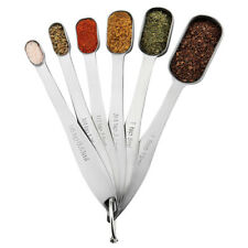 6Pcs Stainless Steel Measuring Cups Spoons for Baking Tea Coffee Kitchen Gadgets