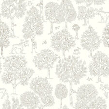 JR3305 - Jack N Rose Junior Beige White Trees Birds Galerie Wallpaper