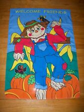 Garden Flag Yard Decor Fall Autumn Scarecrow Pumpkin Halloween Thanksgiving