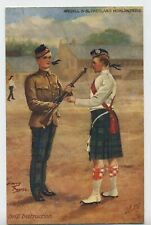 "The Argyll & Sutherland Highlanders ""Drill Instruction"" Vintage Postcard R4"