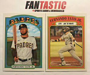 2021 Topps Heritage Baseball Base Card YOU PICK #1-250 inc RC & In Action Cards