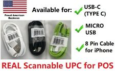 Wholesale Lot 20 50 100x 8 Pin Charge Cables for Apple iPhone 6 7 X 3 Ft 1m UPC