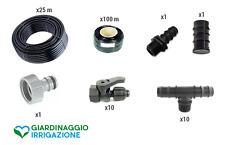 Kit irrigazione a goccia per l'orto - 10 file - versione BASIC