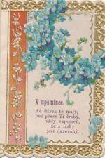Nr 17622  Präge Andachtsbild holy card Na Pamatku Modlitba Tschechien