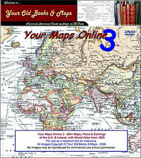 500 Old Maps & Plans on DVD - Your Maps Online 3 DVD