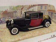 MATCHBOX MODELS OF YESTERYEAR 1927 BUGATTI T44 BLACK /RED1/38 Y24