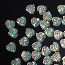 50x Pretty Mother Of Pearl Love Hearts Wedding Craft Scrapbook Embellishments BN