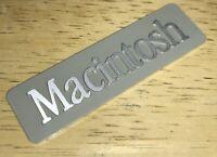 1984 Macintosh 128K M0001 Original Rear Aluminum Case EMBLEM Early 1st Mac NICE!