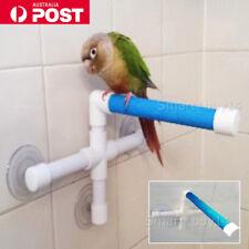 Bird Perch Stand Parrot Play Stands Rack Shower Bath Platform Toy OZ