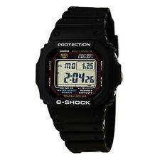 Reloj Para hombres Casio G-shock Multi-banda 6 Resistente Solar Correa Negra GWM5610-1