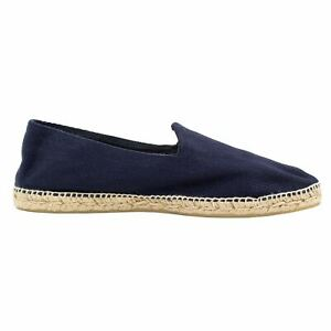 NWT Drake's London Blue Canvas HBone Gum Sole Split Toe Espadrilles 44EU/11US