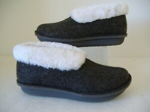 CLARKS CLOUDSTEPPERS SLIPPERS GREY SIZE 3