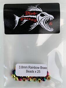 25 X 3.8mm Rainbow Brass Beads