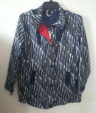 Lands End Womens Rain Coat XS 2 - 4 - Jacket Blue White
