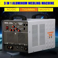 WSE250A Inverter AC/DC TIG/MMA Welding Machine Aluminum Welder 220V/50Hz