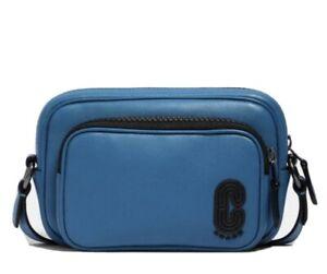 COACH Mini Edge Double Pouch Crossbody Bag/Handbag With Coach Patch UNISEX NWT