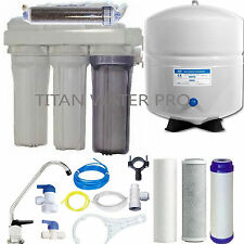 RO/DI Dual Outlet Reverse Osmosis Water Filter Systems - 6 G Tank -100 GPD - USA