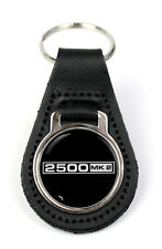 Triumph 2500 MK2 Logo Quality Black Leather Keyring