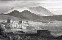 Greece, BURIAL TOMB OF PLATAEANS BATTLE OF MARATHON ~ 1827 Art Print Engraving