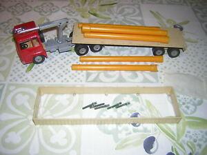 SOLIDO / camion  Berliet avec remorque porte tube