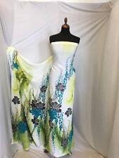 "DESIGNER Crepe De Chine Print Fabric 58"" 148cm Dress Cloth Fashion Craft Sew"