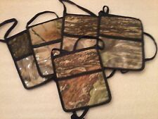 Camouflage Badge Holder, 3 Pocket, Realtree Xtra Brown, Lot of 6, Made In USA