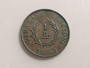 ARGENTINA BUENOS AIRES BUENOS AYRES 1 REAL 1840 MBC