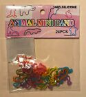 Silicone Animal Silly Bands Bracelets - Sealed Pack of 24