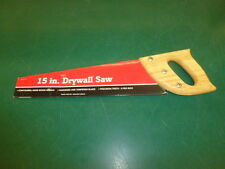 NOS! 15 in. DRYWALL SAW, CONTOURED, HARD WOOD HANDLE, 5 TEETH PER INCH