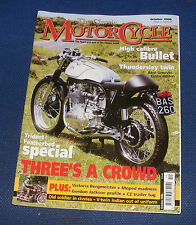 THE CLASSIC MOTORCYCLE OCTOBER 2006 - TRIDENT FEATHERBED SPECIAL