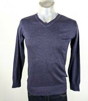 Emporio Armani V Neck Cotton Jumper Small Pristine